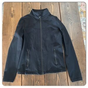Size 10 Ivivva black Perfect your Practice jacket